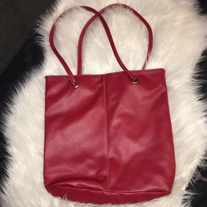 Handbags - New! Red Leather Look Tote